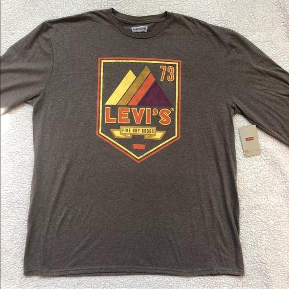 803be5559441 Levi's Shirts | Levis Mens Graphic Tshirt Long Sleeve | Poshmark